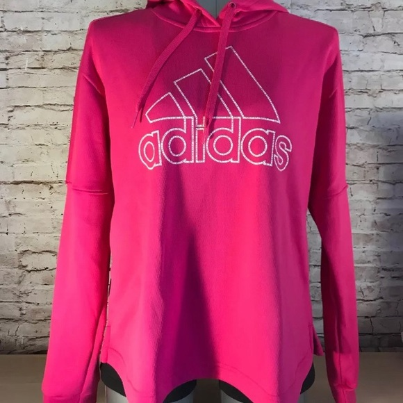 Adidas Team Issue Pullover Hoodie Soft Lined Pink NWT